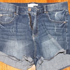 Garage retro high-waisted jean shorts